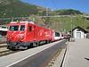 "30 September 2009 :: MGB He 4/4ii no. 103 ""Chur / Marcau de Cuera"" calling at Andermatt with a Glacier Express to Brig and onto Zermatt"