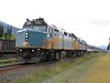 25 September 2010 :: Train 2, 'The Canadian' with Rail F40PH-2 no.s 6406 + 6448 is pictured during a routine stop at Blue River