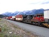 26 September 2010 :: Passing through Jasper while acting as the mid train helper on a double stack intermodal train is Canadian National SD70M-2 no. 8022