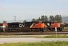14 May 2010 :: CN SD70M-2 no. 8849 and SD40-2W no. 5274 at Thornton Yard, Vancouver