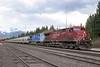 16 May 2010 :: Canadian Pacific AC4400CW no. 9548 + CEFX AC4400CW no. 1019 lead a potash train through Banff