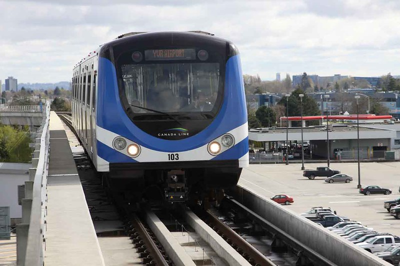 30 March 2010 :: Vancouver SkyTrain no. 103 on the route to Vancouver Airport (YVR)