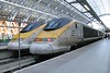 17 June 2010 :: Eurostar Class 373 229 stands at St Pancras International and will be the rear power car on the 0827 departure which will call at Lille.  373 010 is on the adjacent platform