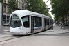 18 June 2010 :: Seen outside Lyon Perrache Station is local tram no. 42 forming a service on the T1 line