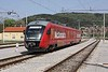 30 April 2010 :: Arriving at Sežana is this 2 car  SŽ Desiro Class 312 EMU no. 312 001 in a McDonalds advertising livery