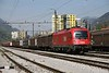 30 April 2010 ::  ÖBB 1216 143 rolls slowly into Jesenice with a freight train from Austria