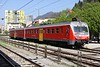 30 April 2010 ::  SŽ Class 813 DMU no. 813 102 is approaching the station at Jesenice