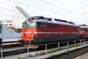 30 April 2010 :: SŽ Class 342 electric locomotive no. 342 014 is stables at Ljubljana.  The Class was introduced in 1968 and was built in Italy