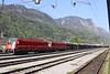 30 April 2010 ::  On an automotive train at Jesenice are a pair of SŽ Class 541-0 locomotives 541 017 + 541 006