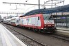 15 May 2011 :: At Luxembourg Station is CFL Class 4000 No 4003 in an advertising livery on a train of double deck coaches