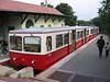 25 September 2005 :: Electric unit 66 on the cog wheel railway at Szechenyi-hegy station, Budapest