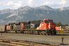4 June 2013 :: ES44AC no. 2808 along with SD70M-2 no 8814 at the head of a loaded coal train at Jasper