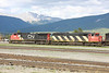 4 June 2013 :: Canadian National locomotives C40-8W no. 2098 and SD60F no 5508 at Jasper