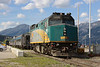 4 June 2013 :: Via Rail F40PH-2 no 6406 stabled at Jasper before working the following days Skeena to Prince Rupert