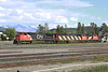 4 June 2013 :: Canadian National locomotives C40-8W no. 2098 with SD60F no 5508 at Jasper