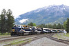5 June 2013 :: The Rocky Mountaineer being shunted into the yard at Jasper with GP40-2 locomotives 8013 & 8019