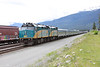 5 June 2013 :: Train No. 2, the Eastbound Canadian departing from Jasper with a pair of F40PH-2's no.s 6428 & 6427