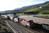 7 June 2013 :: An early morning West bound grain train arriving into Kamloops with ES44AC no. 8772 plus AC44CW No. 9827