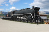 4 June 2013 :: On a plinth outside Jasper station is steam locomotive no. 6015 which is a U-1-a class 4-8-2, which was built August 1923