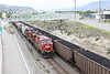 6 June 2013 :: Waiting the road at Kamloops is and East bound empty grain train with Canadian Pacific locomotives ES44AC no. 8840 with AC44CW no. 9638
