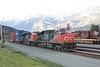 5 June 2013 :: An evening arrival of a west bound intermodal train powered by a pair of CN ES44DC locomotives 2275 & 2250