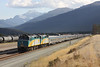 "14 September 2011 :: Train No. 2, The east bound ""Canadian"" pulls away from Jasper with F40PH-2 locomotives, 6443 & 6418"
