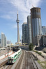 9 September 2011 :: In full view of the CN Tower is  GO push pull double deck train