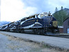 17 September 2011 :: The evening Rocky Mountaineer arriving at Banff with GP40-2's  locos 8011 and 8017