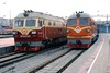 27 Feb 2003 :: Seen at Beijing Station are DF4D no  0132 and DF4D no 2314