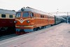 27 Feb 2003 :: Our train, The China Orient Express stands at Beijing Station with DF4 no 2314