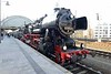 7 April 2018 :: Leading the railtour at Dresden Hbf taking a circular route to Freiberg - Großvoigtsberg - Nossen - Meißen and return to Dresden is 2-10-0 No. 52 8154