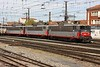 11 September 2010 :: The line up is led by 508614 +  508610 + 508624 and seen adjacent to Toulouse-Matabiau Station