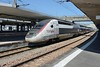 27 May 2017 :: TGV Lyria set 4410 stands at Mulhouse while operating train 9222, the 1334 from Zürich HB to Paris-Gare de Lyon
