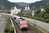 31 July 2012 :: Displaying South African advertising vinyls, 101 025-5 heading south at Boppard