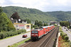 31 July 2012 :: Northbound at Boppard is a train of DB double deck stock with 143 168-3 and 143 919 at the rear