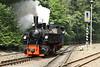 29 July 2012 :: Swiss Mallet 105 runs round its train at Eisfelder Talmühle to form the 14.06 to Drei Annen Hohne