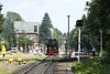 27 July 2012 ::  A general view of Drei Annen Hohne station while 2-10-2 No. 99 7239 takes water while working the 13.25 Wernigerode to Brocken