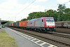 1 July 2014 :: Crossrail Class 185 locomotive 185 599 heads a southbound freight through Köln West