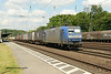 1 July 2014 :: 145 204 is seen at Köln West with  a southbound intermodal train
