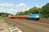1 July 2014 :: In Spitzke Group colours, V100-SP-006 heads a southbound spoil train through Köln West and is passing HGK's 185 631