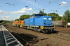 1 July 2014 :: 293 016 together with Thyssen Krupp 523 & 575 heading south at Köln West