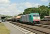 1 July 2014 :: SNCB Class 186 locomotive 186 218 heads a southbound freight through Köln West.