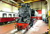 18 May 2016 :: Another view of 99 2321-0 a 1932 built 2-8-2 inside the locomotive shed of the Molli Railway at Bad Doberan