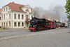 18 May 2016 :: 1932 built 2-8-2 No 99 2322-8 crossing a road in Bad Doberan working the 0935 from Kühlungsborn West to Bad Doberan