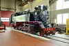 18 May 2016 :: 99 2321-0 a 1932 built 2-8-2 inside the locomotive shed of the Molli Railway at Bad Doberan