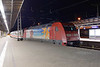 18 May 2016 :: 101 122 is stabled overnight at Stralsund Hbf