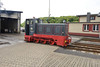 18 May 2016 :: 199 014-2, a 1962 built diesel shunter outside the shed at Bad Doberan on the Molli Railway