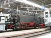 27 June 2004 :: inside the shed at The  Blonay–Chamby Museum is Ex-Deutsche Reichbahn, Deutsche Bundesbahn 0-10-0 G 5/5 no. 99 193
