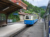 24 June 2004 :: On the 800mm Montreux-Vevey-Riveiera line Bhe2/4 no. 201 is pictured at Caux with a train heading for Montreux