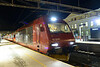 23 February 2014 :: Class EL18, 18 2245 stands at Trondheim waiting to depart with the 2313 sleeper train to Oslo